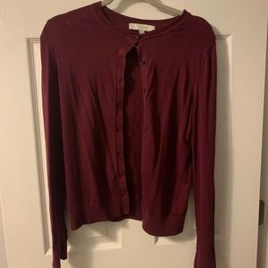 LOFT maroon sweater